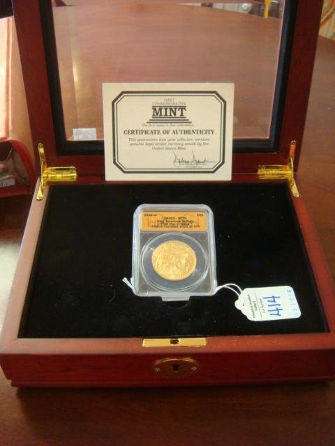 Graded SF-70, Gold American BUFFALO Coin .9999 Fine: