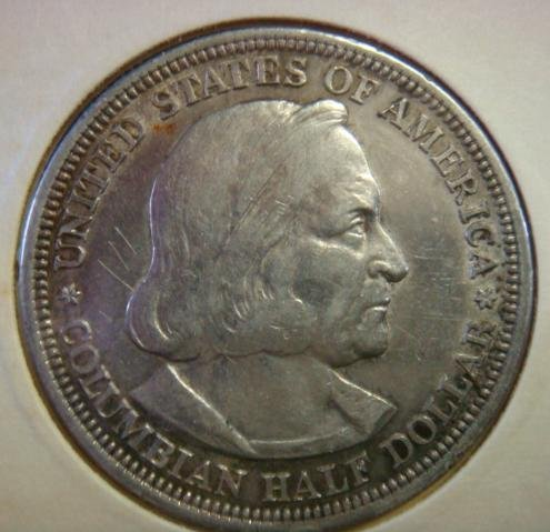1893 Columbian Exposition Commemorative Half Dollar: - 3