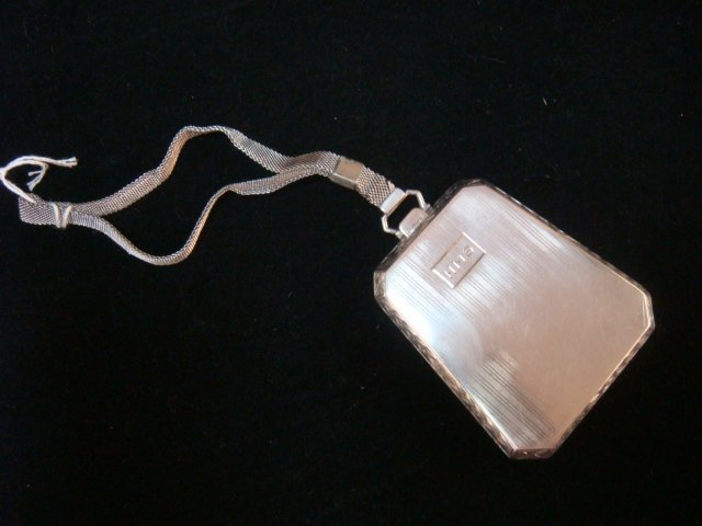 1923 Sterling Silver Coin and Card Case with Handle: