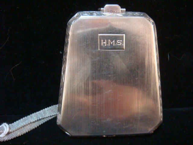 1923 Sterling Silver Coin and Card Case with Handle: - 2