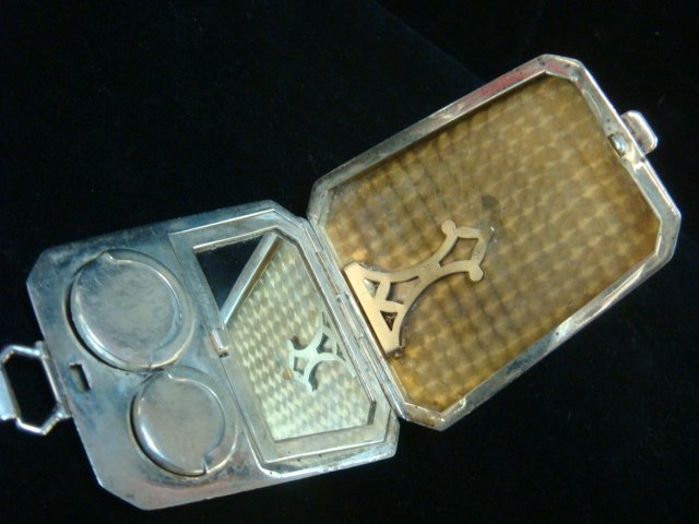 1923 Sterling Silver Coin and Card Case with Handle: - 3