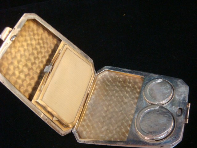 1923 Sterling Silver Coin and Card Case with Handle: - 4