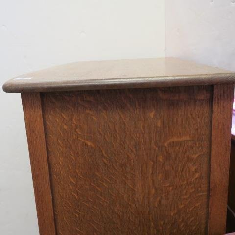Circa 1900 Oak Six Drawer Dresser, Bowed Drawers: - 4
