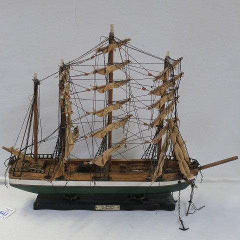 "Wooden Ship Model ""Clipper Ship XIX Century:"