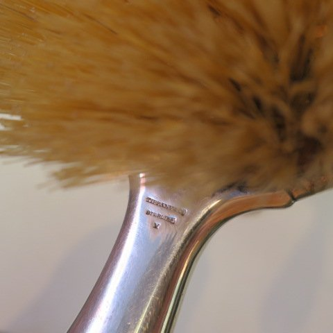 2 Sterling Silver Brushes, Mirror, Comb, One TIFFANY: - 4