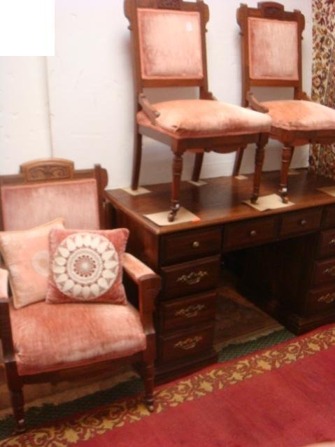 Two Eastlake Side Chairs and Arm Chair, CA. 1885: