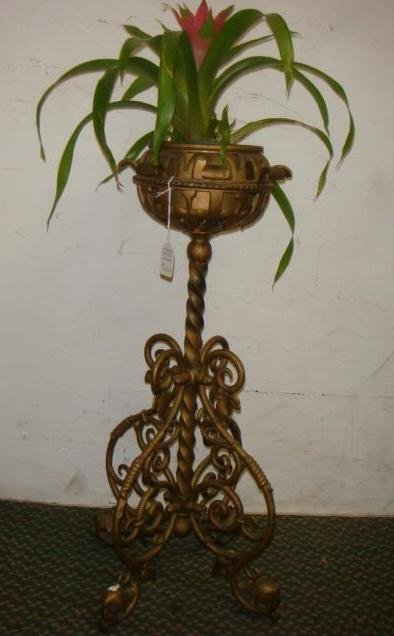 Cast Metal Plant Stand: