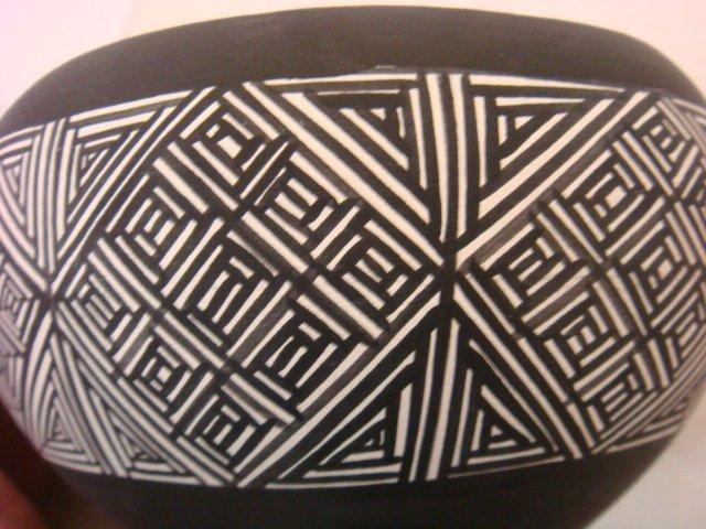 Taos Pueblo Clay Bowl and Small Bowl: - 3