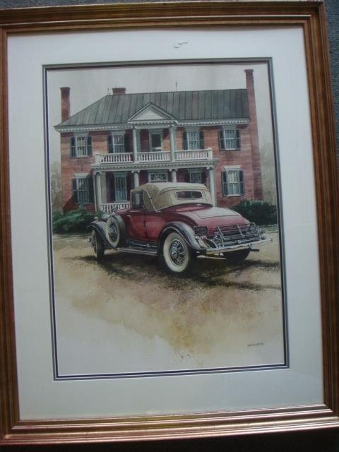 BOB HOLLAND Signed Scenic Watercolor: