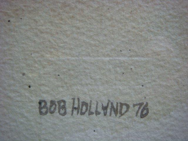 BOB HOLLAND Signed Scenic Watercolor: - 3