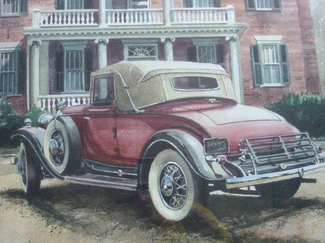 BOB HOLLAND Signed Scenic Watercolor: - 4