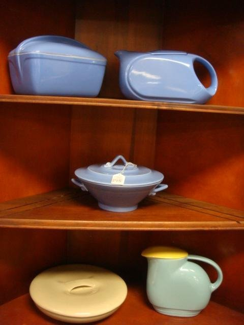 Mid Century Ceramic Covered Bowls and Pitchers: