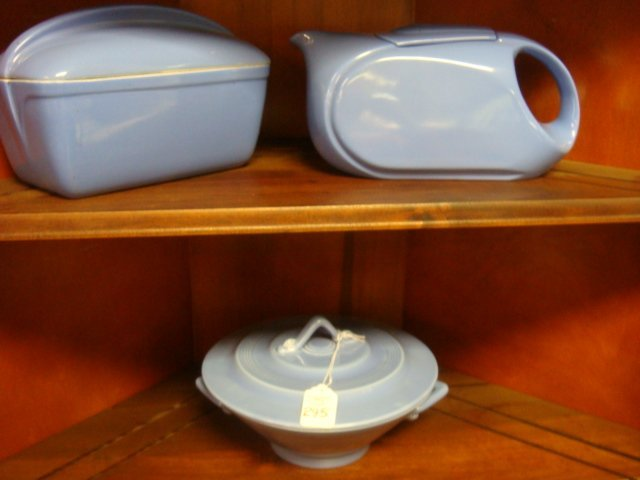 Mid Century Ceramic Covered Bowls and Pitchers: - 4