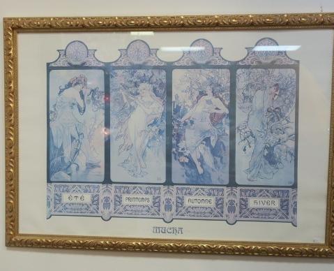 Alphonse Mucha Four Seasons Print: