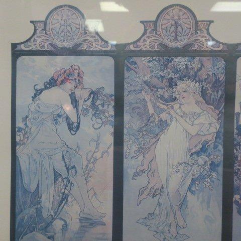 Alphonse Mucha Four Seasons Print: - 2