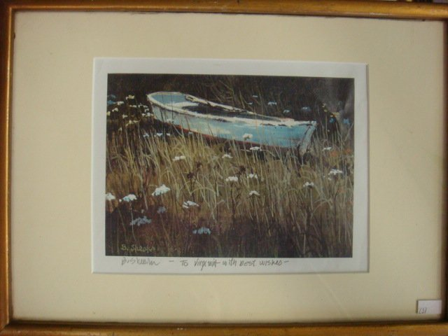 Barclay Sheaks Signed Row Boat Print: