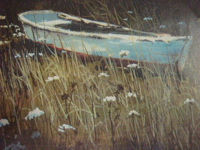 Barclay Sheaks Signed Row Boat Print: - 2