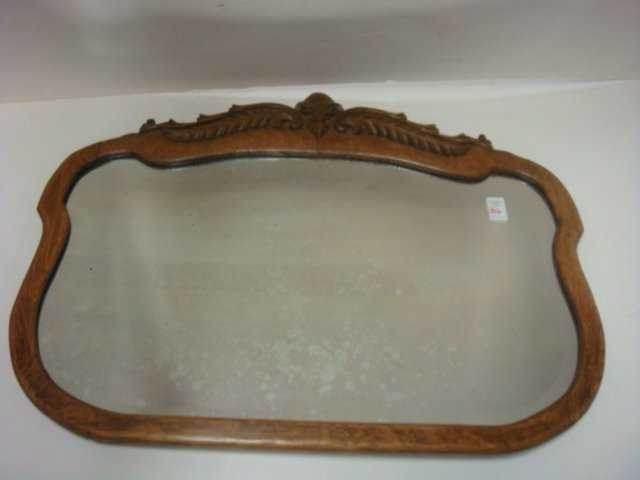 Oak Framed Wall Mirror CA. 1900: