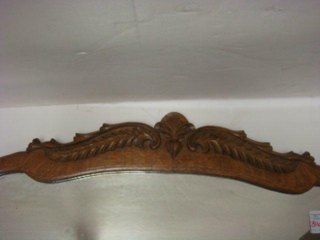 Oak Framed Wall Mirror CA. 1900: - 2