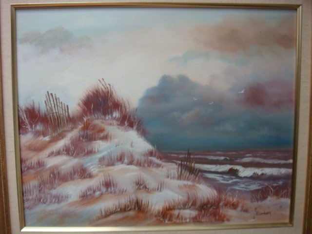 Two EISENBATH Signed Oil on Canvas Beachscapes: - 2