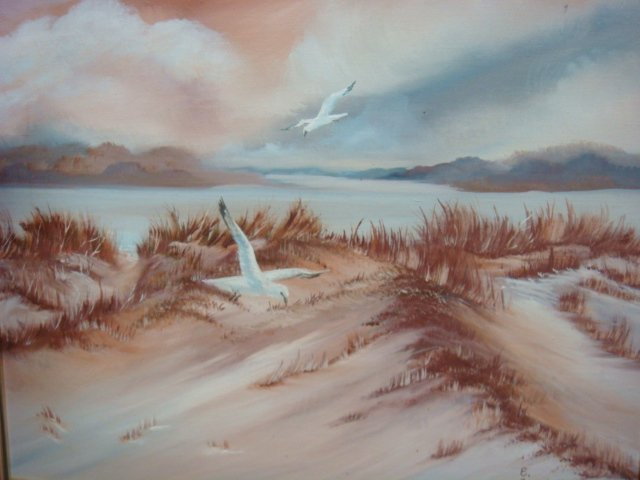 Two EISENBATH Signed Oil on Canvas Beachscapes: - 4