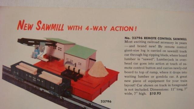 "AMERICAN FLYER, ""Remote Control Sawmill"", #23796: - 3"