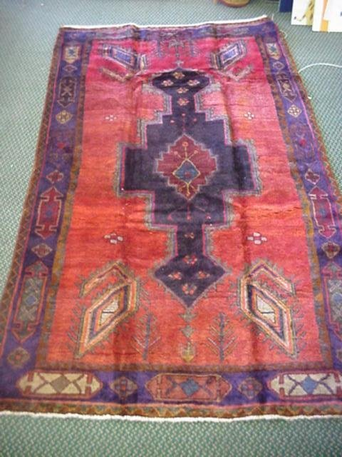 862: Hand Knotted Persian All Wool Hamadan Rug: