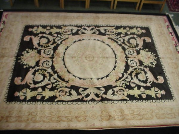 866: Individually Knotted Savonnerie Persian Rug: