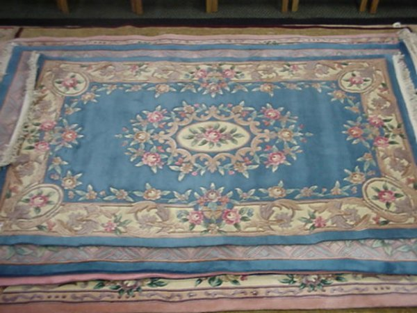 868: Hand Knotted Sculpted Persian Design Oriental Rug:
