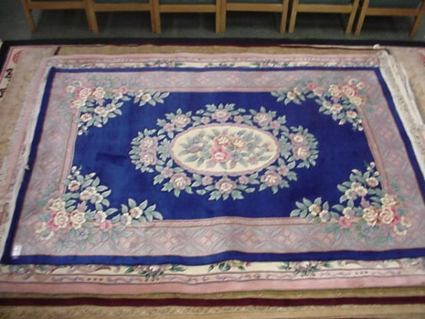869: Hand Crafted Sculpted Close Back Oriental Rug: