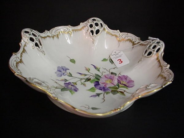 3: Rosenthal Hand Decorated Porcelain Lobed Bowl