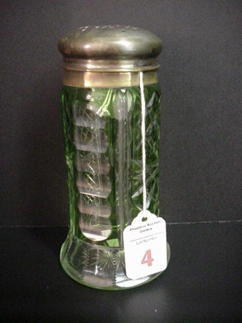 4: Bohemian Cut Green Crystal Castor