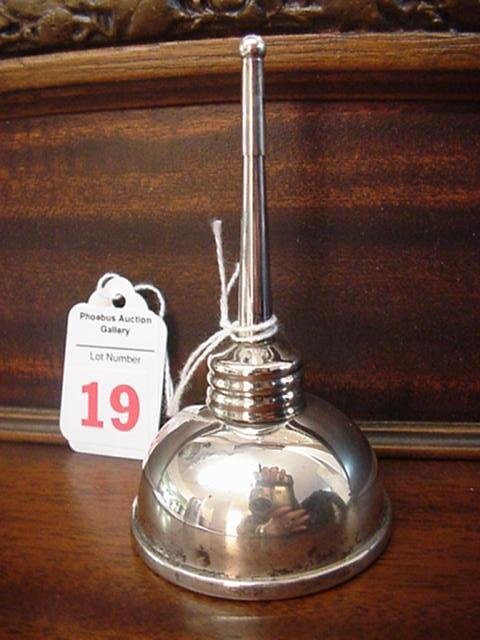 19: Tiffany and Co. Sterling Oil Can