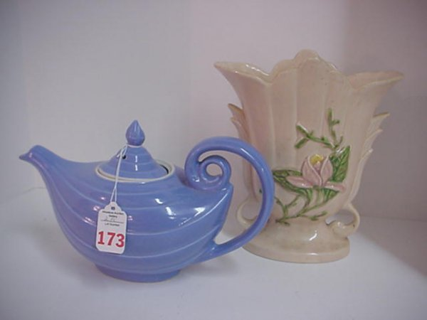 173: Hall Aladdin Teapot and Hull Magnolia Vase