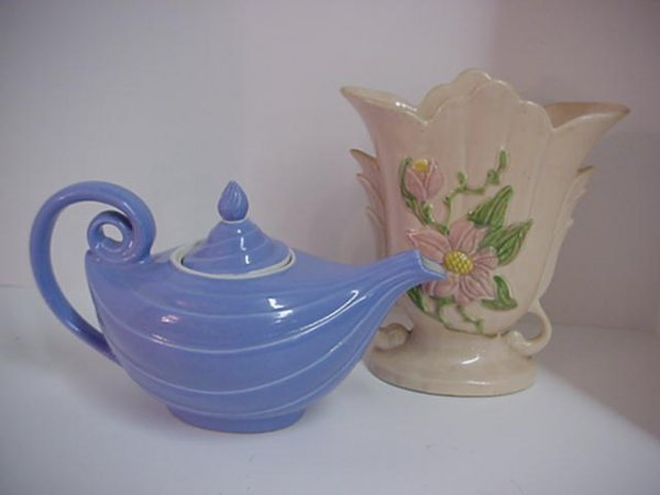 173: Hall Aladdin Teapot and Hull Magnolia Vase - 2