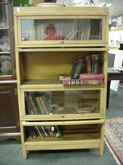 597: 4 Stack Globe-Wernicke Barristers Bookcase: - 3