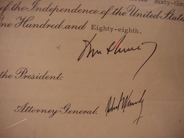 627: John F. Kennedy and Robert F. Kennedy Autographs: