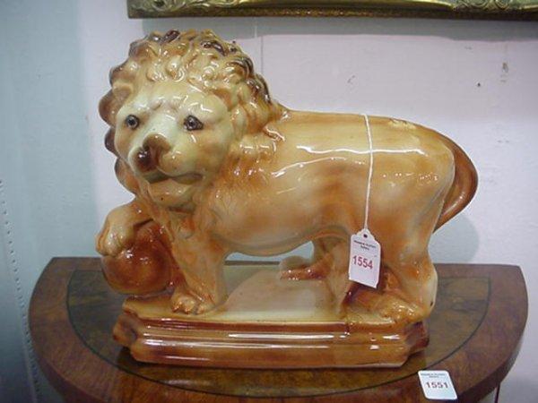 1554: 19th C Staffordshire Lion Figurine: