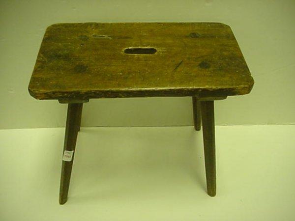 1565: 100 Year Old Handmade German Pine Footstool: