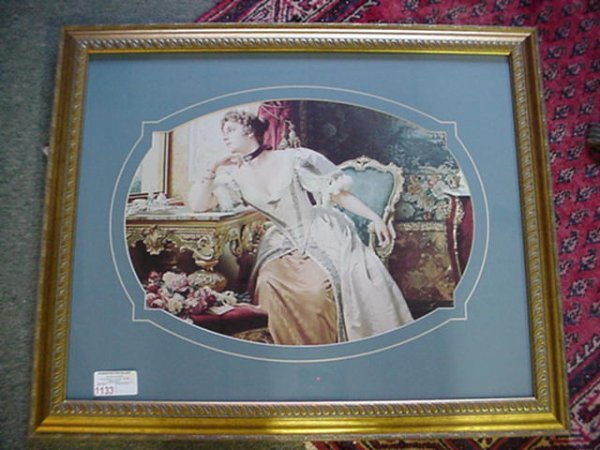 1568: Victorian Lady in Drawing Room Print: