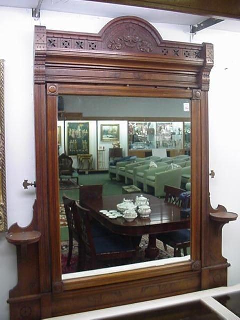 1569A: Walnut Eastlake Dresser Frame with Mirror: