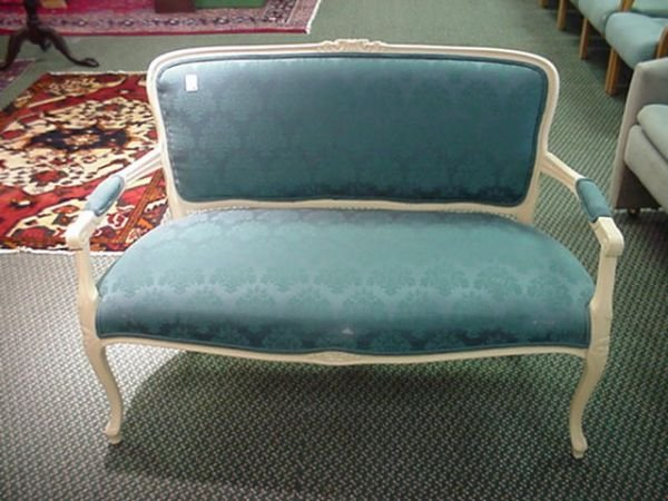 1554B: D. R. Kincade Upholstered Settee: