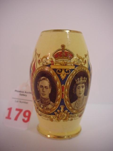 Royal Winton Grimades King George Commemorative Vase: