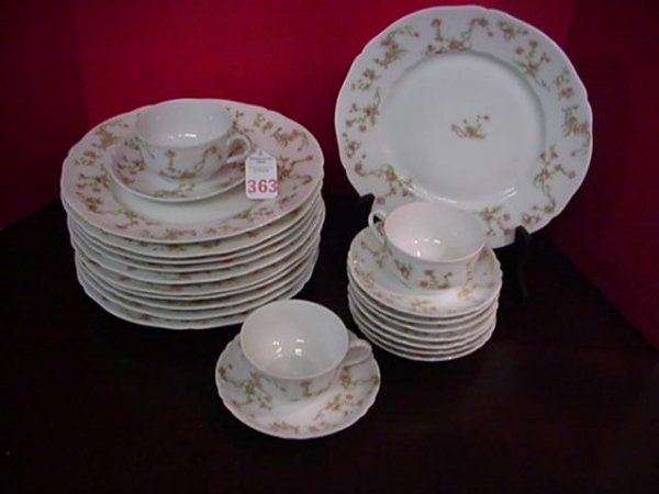 M.W. Co. Royal Saxony China Plates, Saucers and Cups: