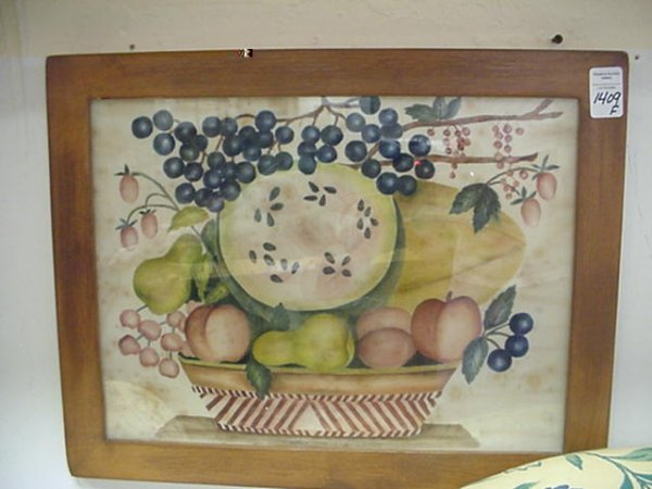 JEAN HENRY Country Folk Art Fruit Painting: