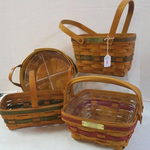 Four Longaberger Baskets: