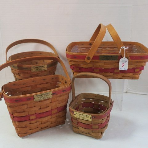 Four Longaberger Christmas Collection Baskets: