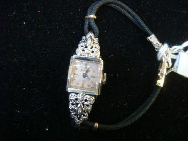 14KT White Gold Diamond BENRUS Ladies Watch: