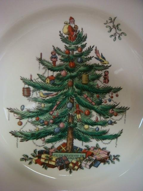 SPODE England Christmas Tree Dinnerware 35 Pcs: - 2