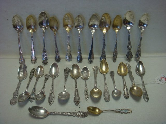 Twenty Six Sterling Silver Collector Spoons:
